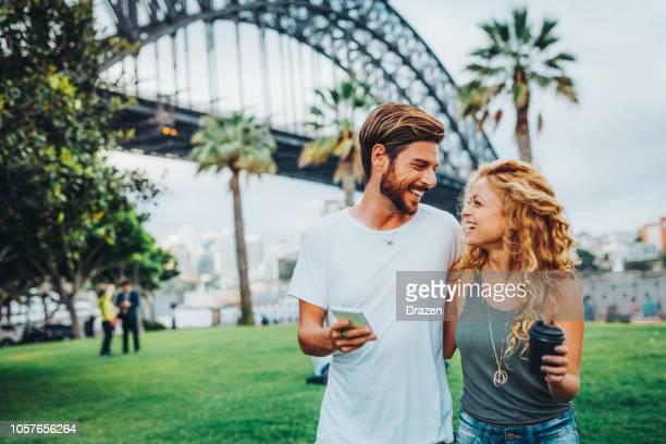 enjoying city break in sydney, australia - international landmark stock pictures, royalty-free photos & images