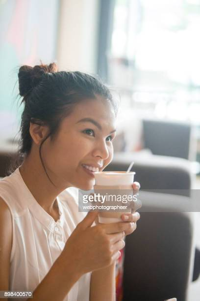 Enjoying coffee to go