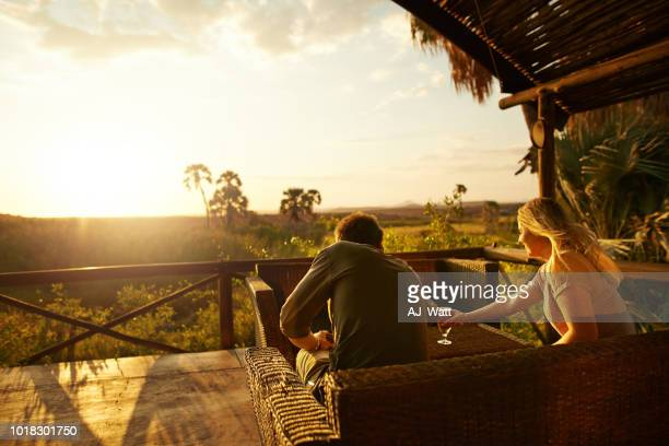 enjoying drinks and sunsets on our vacation - south africa stock pictures, royalty-free photos & images
