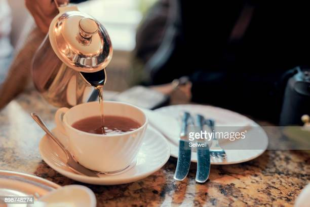 enjoying english breakfast in york - york yorkshire stock pictures, royalty-free photos & images