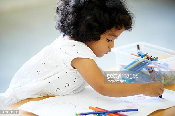 enjoying her creativity - coloring stock pictures, royalty-free photos & images