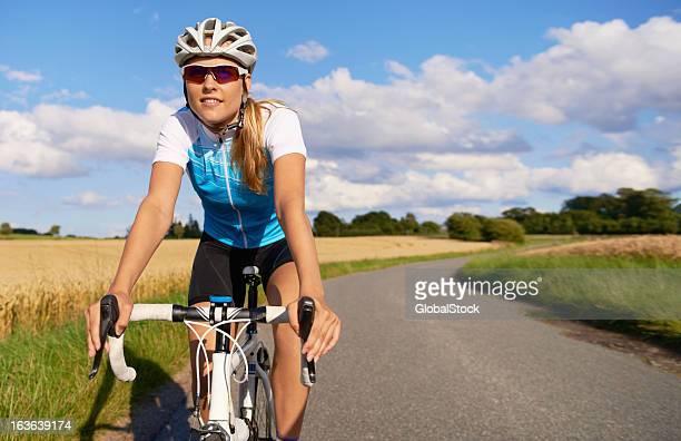 Enjoying her cycle