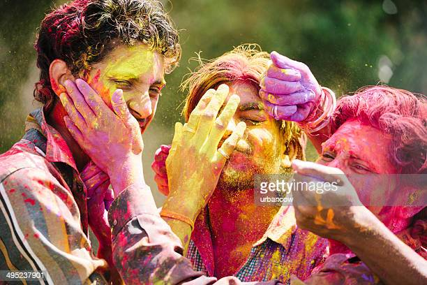 Enjoying Holi, Jaipur