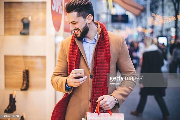 Enjoying in Christmas shopping