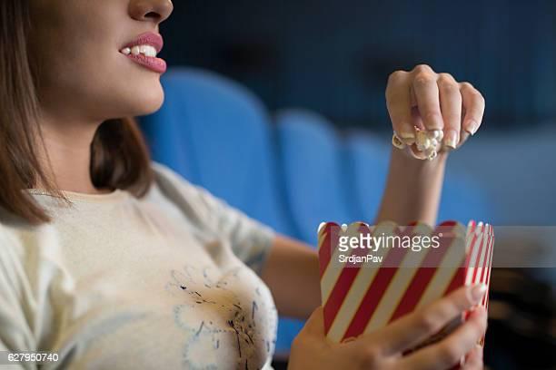 Enjoying in cinema