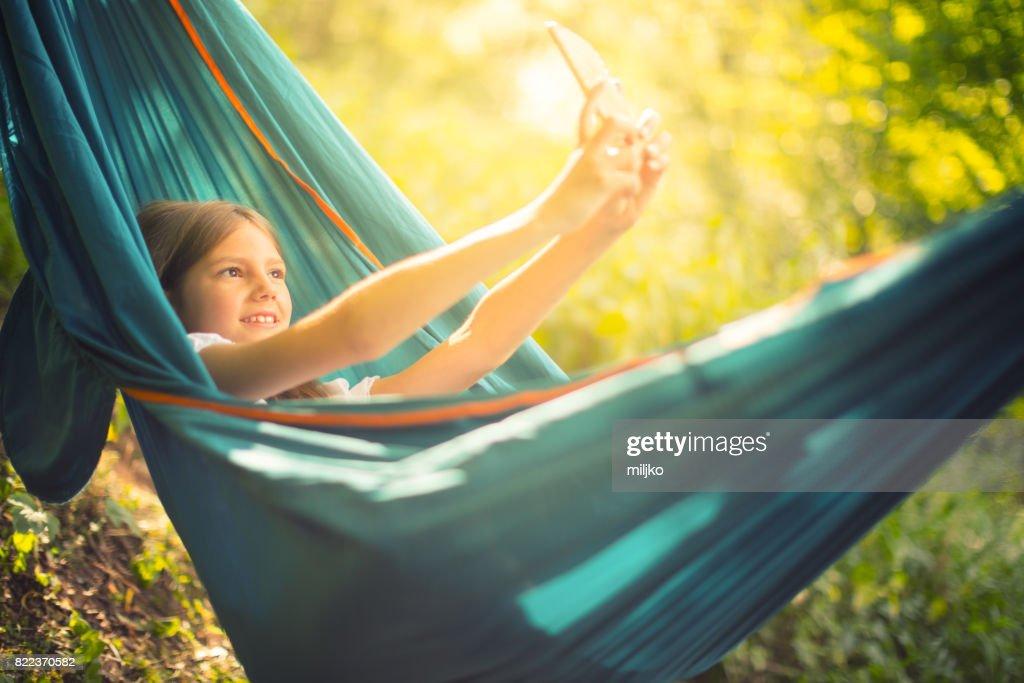 Enjoying in nature : Stock Photo