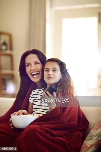 Enjoying my favourite movie with my mom