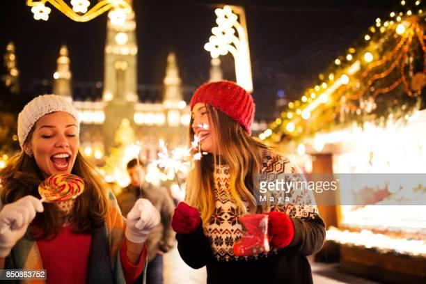 Enjoying on Christmas market