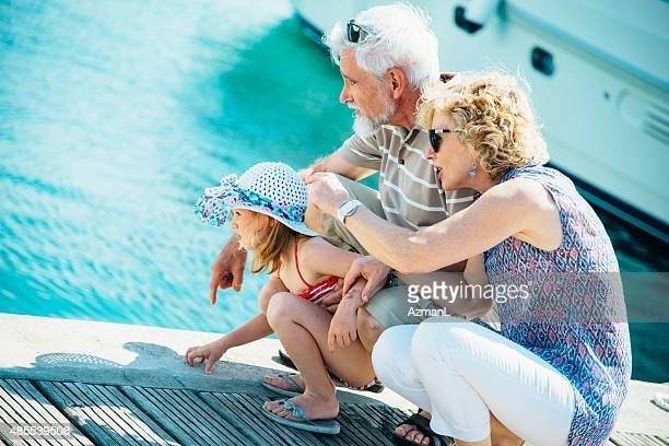 Enjoying on Vacations with Grandparents
