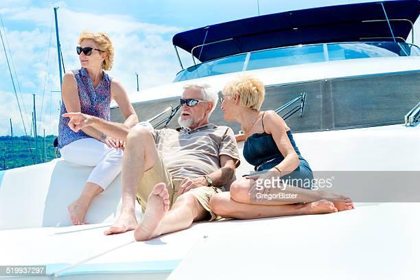 Enjoying On Yacht
