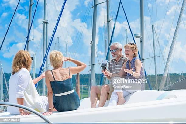 Profitant de Yacht
