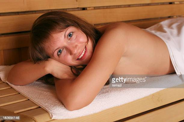 Enjoying sauna
