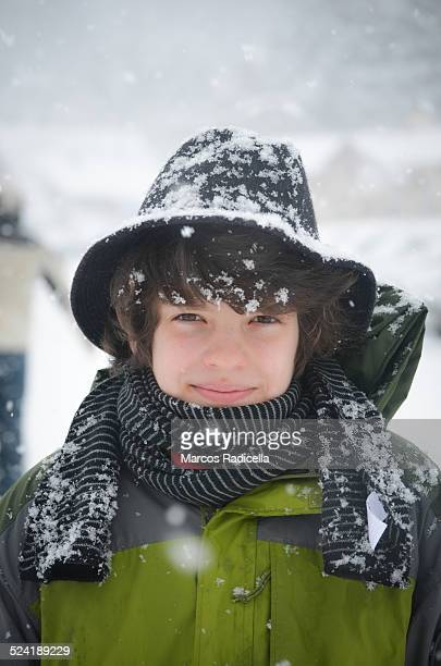 enjoying snow - radicella stock photos and pictures