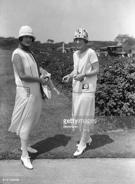 Enjoying society's 1924 summer season at Newport Rhode Island are the misses Muriel and Consuelo Vanderbilt