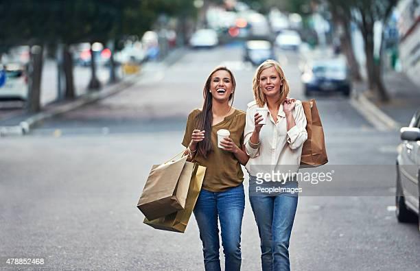 Enjoying some good old retail therapy!