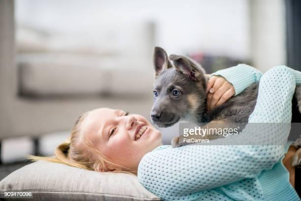 Disfruta de pasar tiempo con el cachorro
