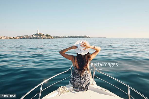 enjoying summer on the croatian seaside - croatia stock pictures, royalty-free photos & images