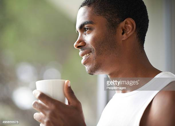 Enjoying that first sip in the morning