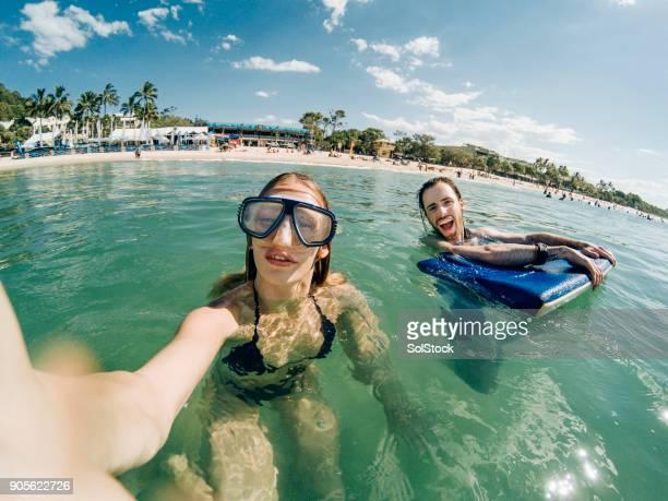 enjoying the australian sea - sunshine coast australia stock pictures, royalty-free photos & images