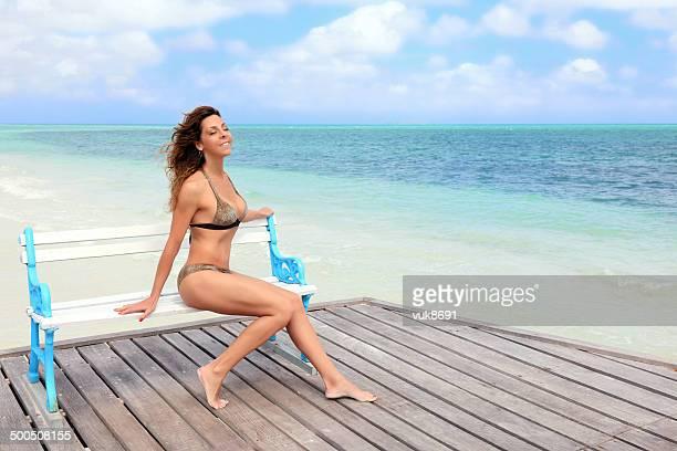 Genießen den Strand