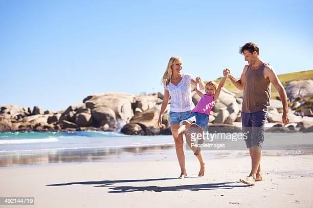 Enjoying the beach together