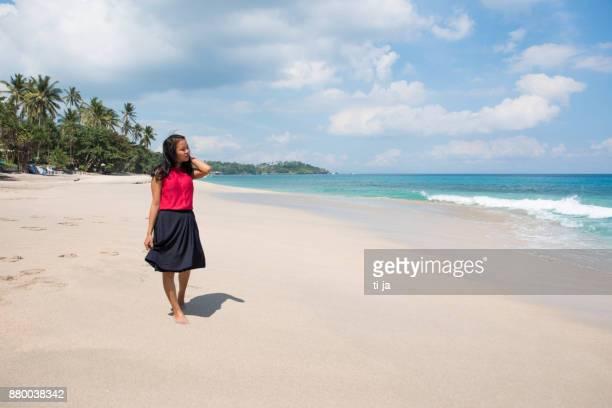 Enjoying the beautiful paradise beach