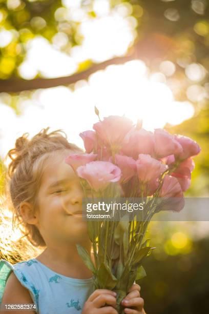 godersi la bellezza della natura e dei fiori - mazzo di rose foto e immagini stock