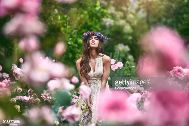 enjoying the beauty of nature and life - roman goddess stock pictures, royalty-free photos & images