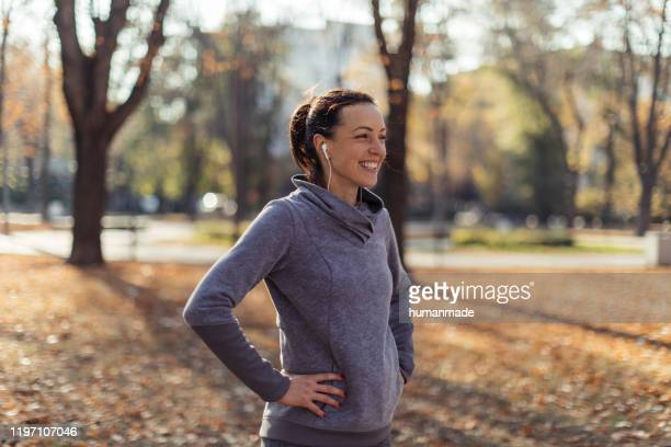 enjoying the cold fresh air - walking stock pictures, royalty-free photos & images