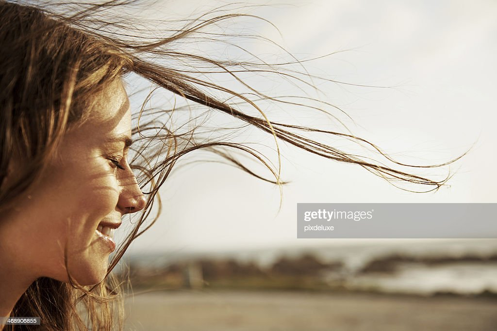 Enjoying the fresh sea air : Stock Photo