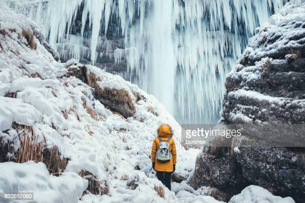 enjoying the great outdoors - winter weather stock photos and pictures