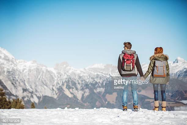 Genießen Sie den Blick auf die Berge