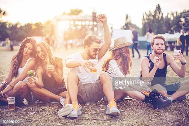 Enjoying the music festival
