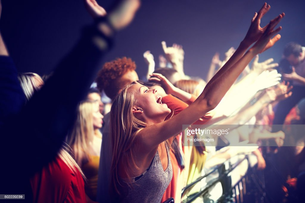 Enjoying the music : Stock Photo