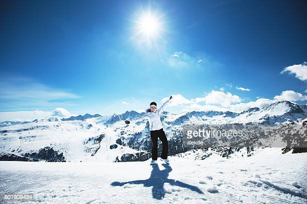 enjoying the nature in mountains - andorra stock pictures, royalty-free photos & images