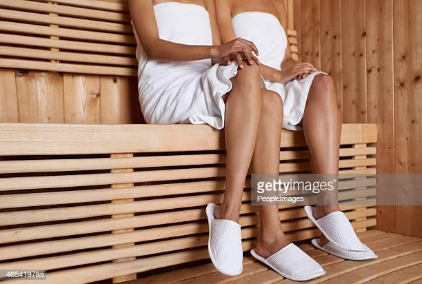 Desfrutar da sauna