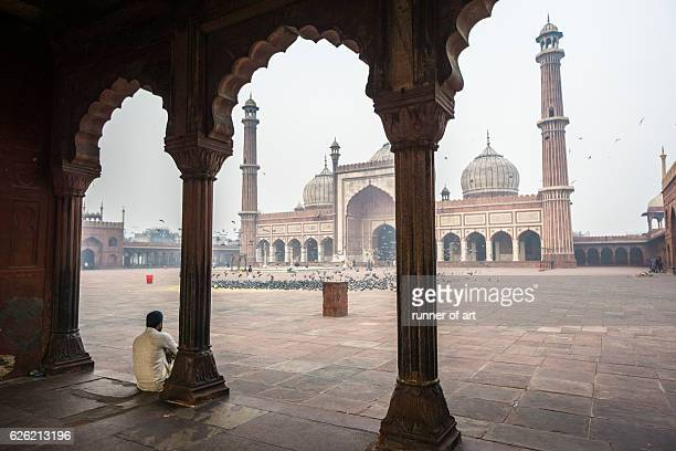 Enjoying the scenery at Jama Masjid