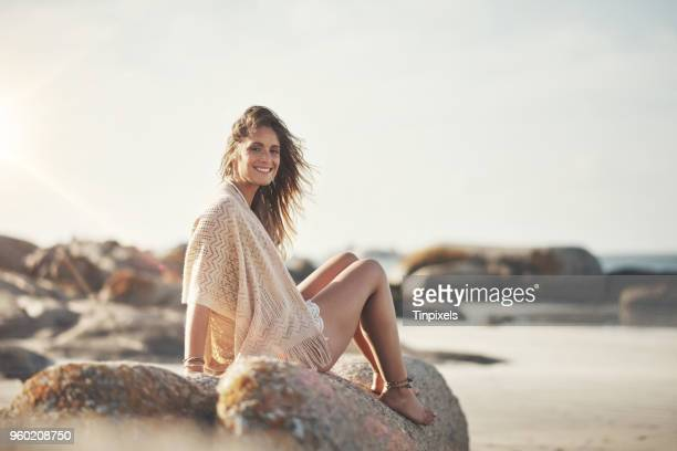 enjoying the sea air - beautiful czech women stock photos and pictures
