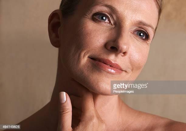 Enjoying the sensation on her skin