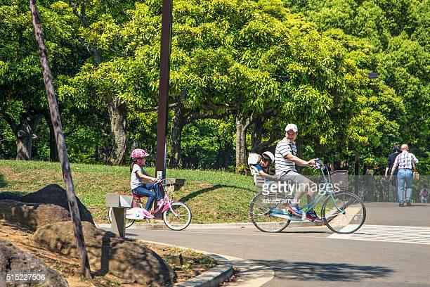 Enjoying the sunny day with family in the Yoyogi Park