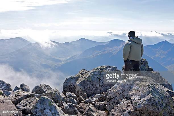 Enjoying the view from Ben Nevis (0498)
