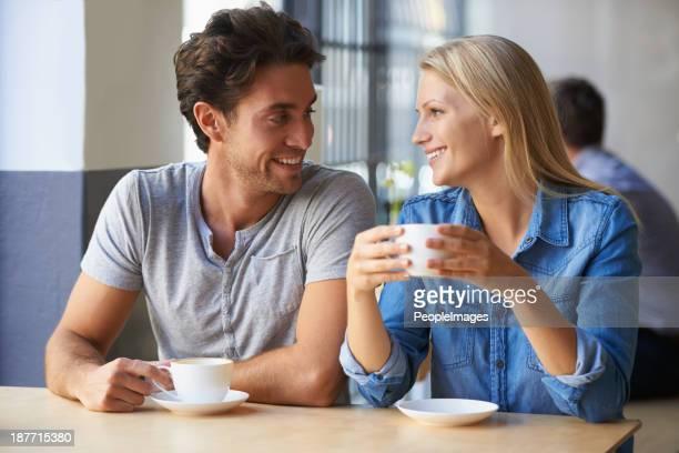Enjoying their coffee date
