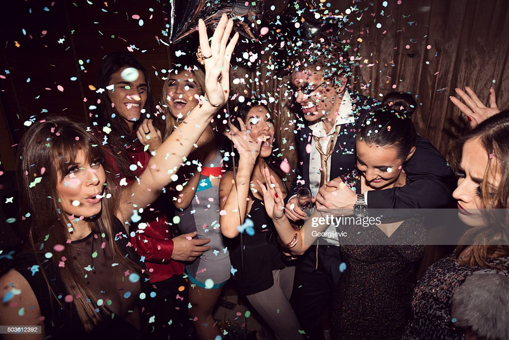 Enjoying their night out : Stock Photo
