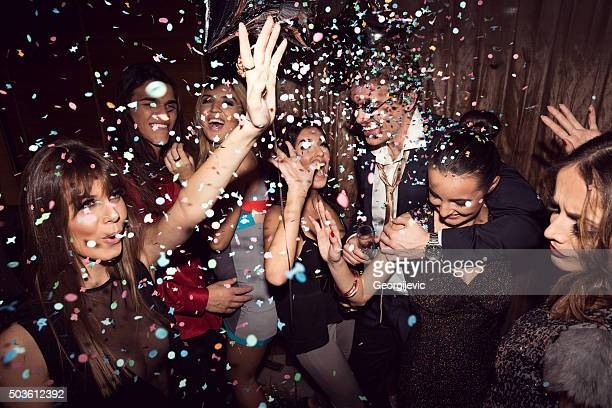 enjoying their night out - party stock pictures, royalty-free photos & images
