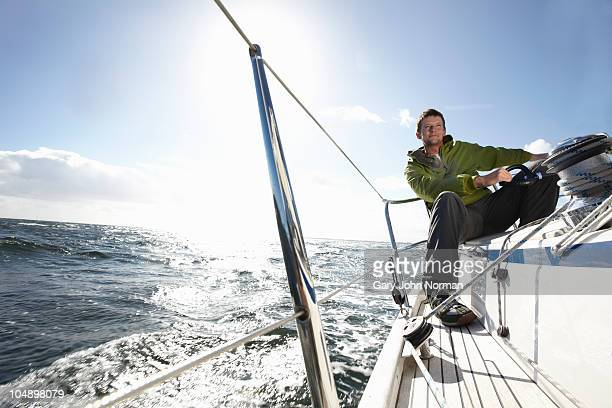 Enjoying windy sailing conditions