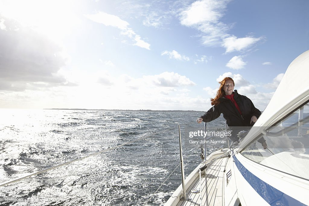 Enjoying windy sailing conditions  : Foto stock