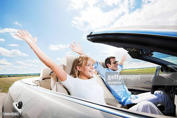 Enjoying your life in a cabriolet car!