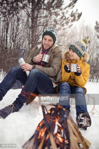 Njutning på vintern magi