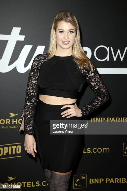 EnjoyPhoenix attends the '4th Melty Future Awards' at Le Grand Rex on February 6 2017 in Paris France