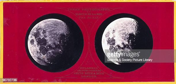 Enlarged stereoscopic lunar photograph taken by Robert Howlett from the original negative by Warren De La Rue published by Smith Beck and Beck of...